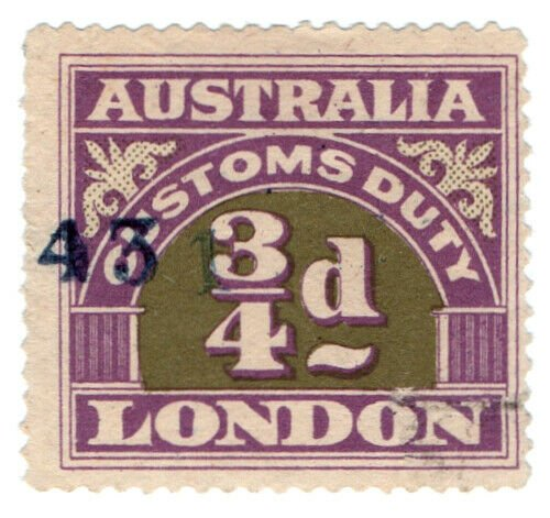 (I.B) Australia Revenue : Customs Duty ¾d