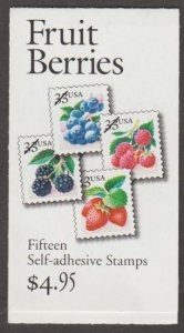 U.S. Scott #3301a-3301c BK276A Fruit Berries Stamp - Mint NH Booklet