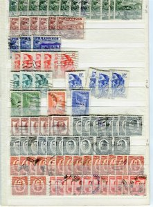 PHILIPPINES; 1950s fine DUPLICATED USED LOT , + POSTMARKS