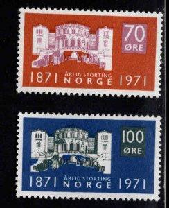 Norway Scott 570-571 MH* 1971 set