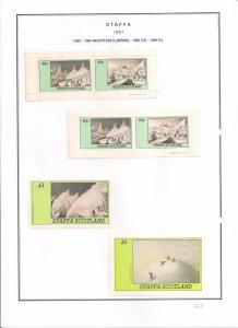 SCOTLAND - STAFFA - 1981 - Climbing - Perf, Imperf 2v, Souv, D/L Sheets - MLH