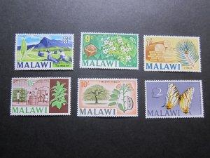 Malawi 1966 Sc 45-48,50-51 MNH