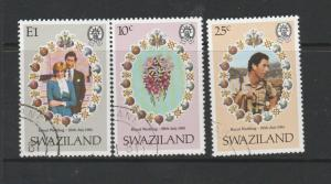 Clearance Swaziland 1981 Royal wedding 13 sets VFU/CTO First day SG 376/8, Cat 9