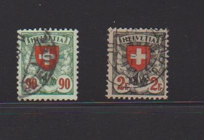 SWITZERLAND STAMPS USED (2) LOT#180
