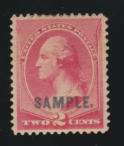 US 210SK 2c Washington Vermillion Specimen VF-XF OG H SCV $75