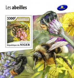 NIGER - 2018 - Bees - Perf Souv Sheet - MNH