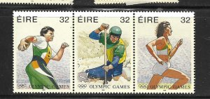 IRELAND, 999A, MNH, STRIP OF 3, OLYMPIC GAMES