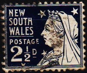 New South Wales. 1892 2 1/2d S.G.303 Fine Used
