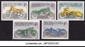 HUNGARY - 1985 CENTENARY OF MOTOR CYCLE - 5V - MINT NH