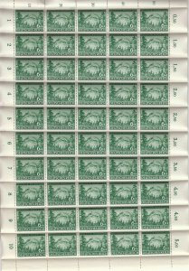 Stamp Germany Mi 855 Sc B241 Sheet 1943 WWII 3rd Reich Rosegger Poet MNH