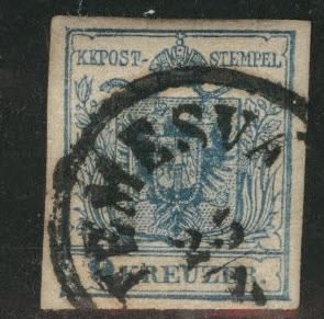 Austria Scott 5 Used stamp from 1950 Coat of Arms