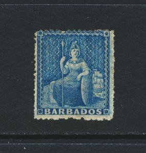 BARBADOS 1861, 1d BLUE, VF MINT SG#23 CAT£80 $105 (SEE BELOW)