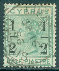 CYPRUS : 1886. Stanley Gibbons #29b Very Fine, Used. Small '1' at right Cat £275