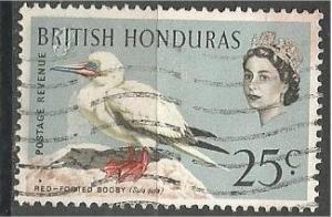 BRITISH HONDURAS, 1962, used 25c, Birds, Scott 174