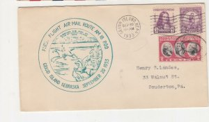 UNITED STATES, 1933 Grand Island, Nebraska, AM 18 First Flight cover.