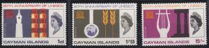 Cayman Islands 186-188 MNH (1966)