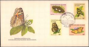 Cocos Islands, Worldwide First Day Cover, Butterflies