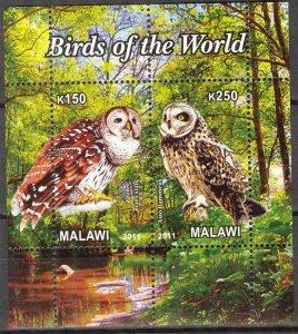 Malawi 2011 Birds (5) Owls MNH Cinderella !