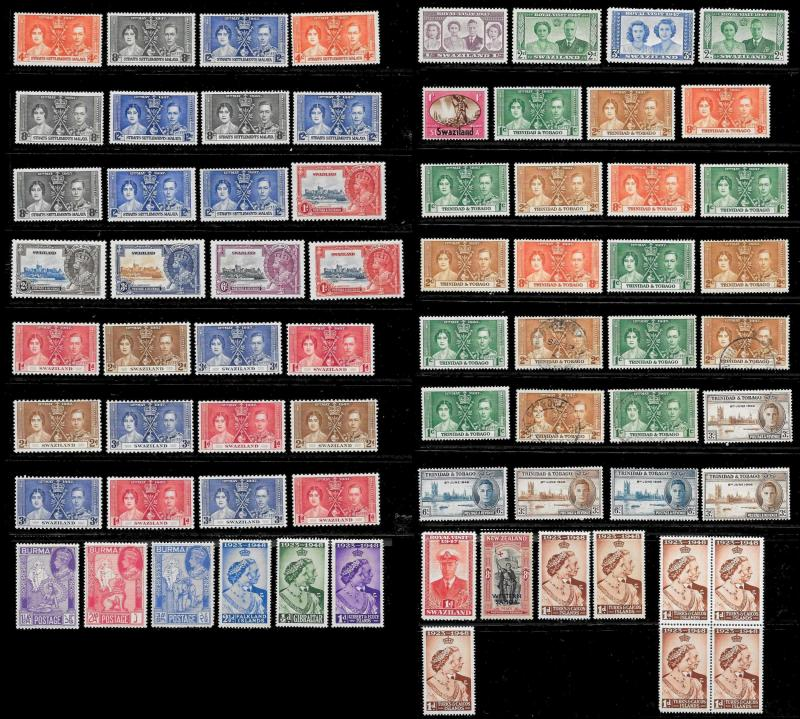 BRITISH COLONIES (1225+ Stamps) Omnibus Set Stamps Pairs Singles MNH/Mint/Used