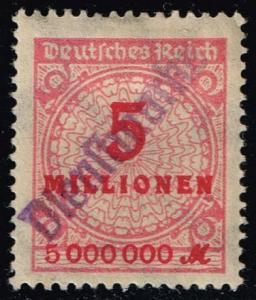 Germany #285 Numeral; Unused with Dienstmarke Handstamp