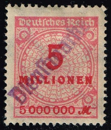 Germany #285 Numeral; Unused with Dienstmarke Handstamp