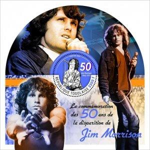 TOGO - 2021 - Jim Morrison - Perf Souv Sheet - Mint Never Hinged
