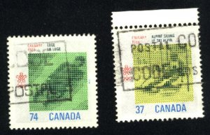 Can #1195,1198   used  VF 1988 PD