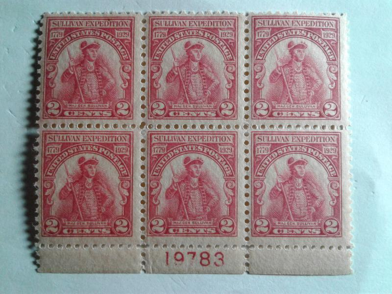 SCOTT # 657 MINT NEVER HINGED AMAZING PLATE BLOCK OF 6 !!
