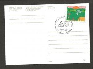 1983 Canada World Boy Scout Jamboree postcard FD
