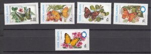 J28403 1997-8 cook island mnh part of set #1226a-1226e butterflies