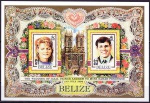Belize. 1986. bl84. Princess. MNH.