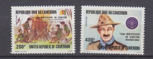 J29533, 1982 cameroun set  mnh #719-20 scouts