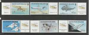 Ascension 2003 Centenary of Powered Flight UM/MNH SG 878/83