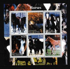 Tadjikistan - HORSES - S.S. - MNH