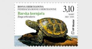 2019 Bosnia & Herzegovina Fauna Issue - Turtles S4 (Scott NA) MNH