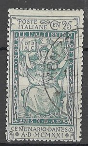 COLLECTION LOT OF #1829 ITALY #134 1921 CV = $32
