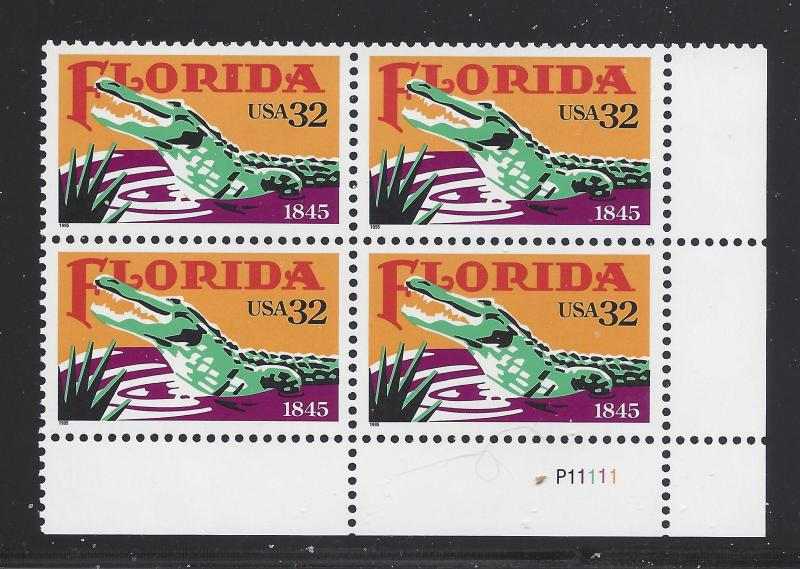 2950 - 32c FLORIDA PB# P11111 LR MNH - CV:* $6.50 -  LOT 303
