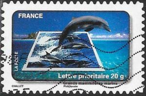 France 3782 Used - Protection of Water - Large Marine Animals