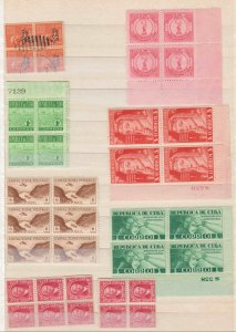 CUBA 2 STOCK PAGES SOUND MULTIPLES MOST MINT NH COLLECTION LOT