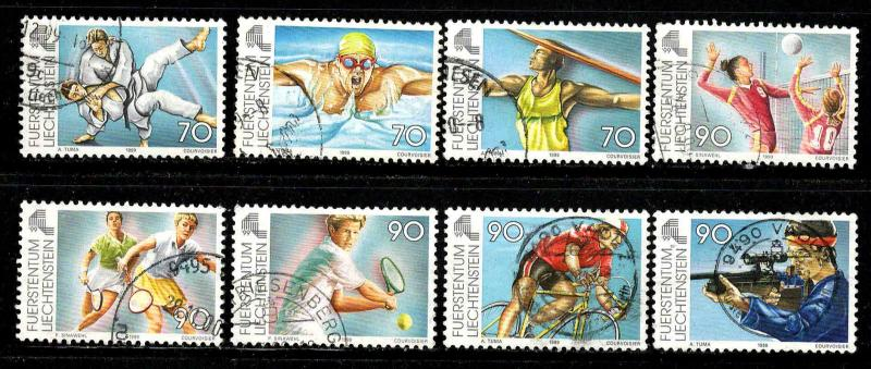 Liechtenstein # 1142-50 ~ Short Set 8/9 ~ Used, HMR, MX ~ cv 9.10