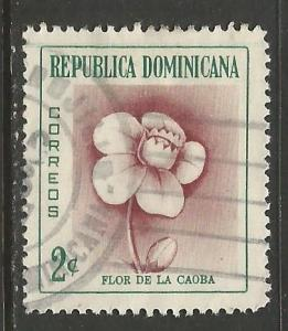 Dominican Rep. 489 VFU FLOWER S399-2