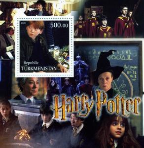 Turkmenistan 2001 HARRY POTTER s/s Perforated Mint (NH)