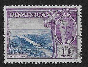 DOMINICA SC# 131  FVF/U 1951