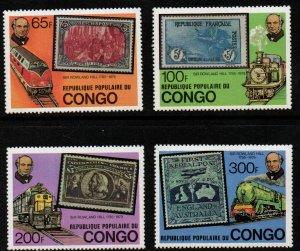 Congo, Peoples Republic - Scott # 499-502 F-VF Mint Never Hinged