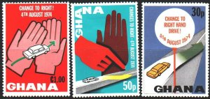 Ghana. 1974. 574À-76À from the series. Road safety. MLH.