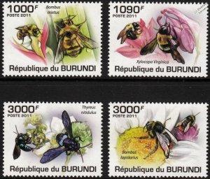 Burundi MNH 882-5 Bees Insects 2011 SCV 13.00