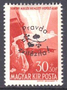 HUNGARY 30+30 #2 LOCAL WW2 PRAVDA ROMANIA LIBERATION OVERPRINT OG NH U/M F/VF