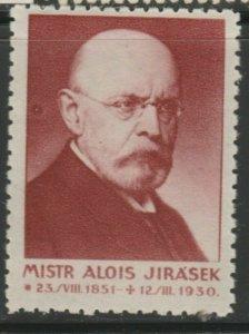 Mistr Alois Jirasek Writer Cinderella Poster Stamp Reklamemarken A7P4F779