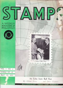 Stamps Weekly Magazine of Philately July 22, 1933 Stamp Collecting Magazine