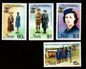 Nevis MNH 423-6 75th Anniversary Of Girl Guides